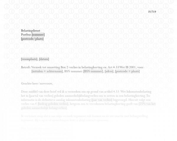 Verlies uit aanmerkelijk belang omzetten in belastingkorting RB019